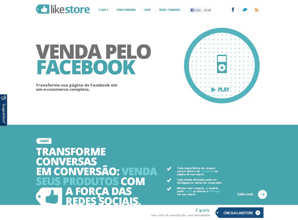 Likestore: o social commerce do Facebook