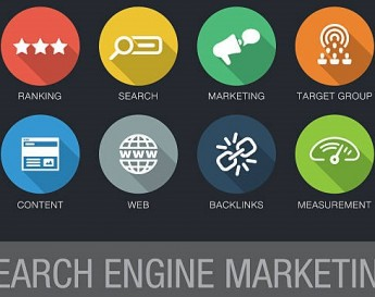 Itens que envolvem o search engine marketing: ranking, busca, marketing, grupo alvo, conteúdo, web, backlinks e métricas. | O que é SEM (Search Engine Marketing)?